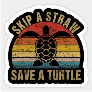 Sea Turtle Sticker For Hydroflask or Laptop
